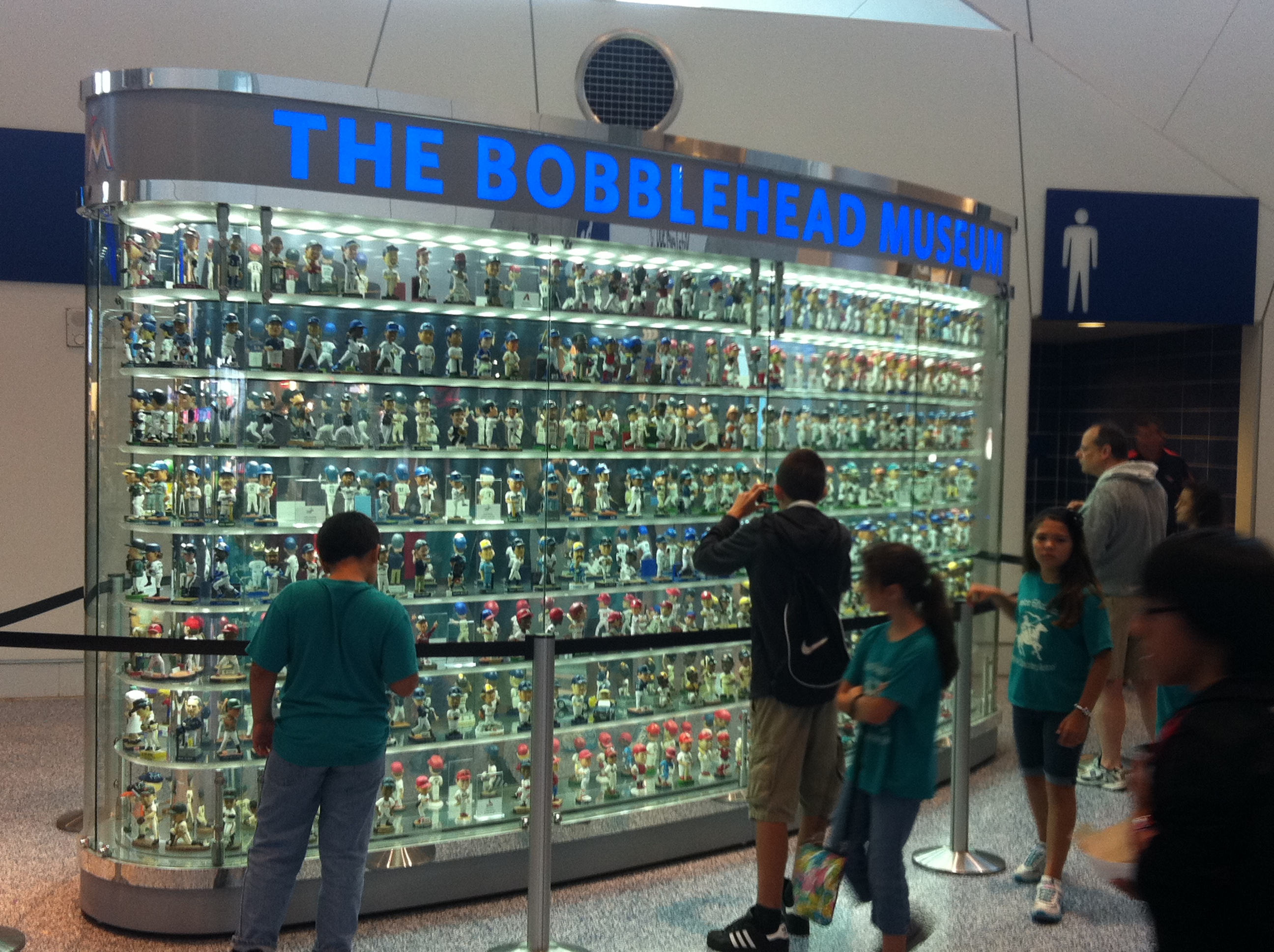 The Bobblehead Museum on the concourse shakes a little so that the heads are always moving.
