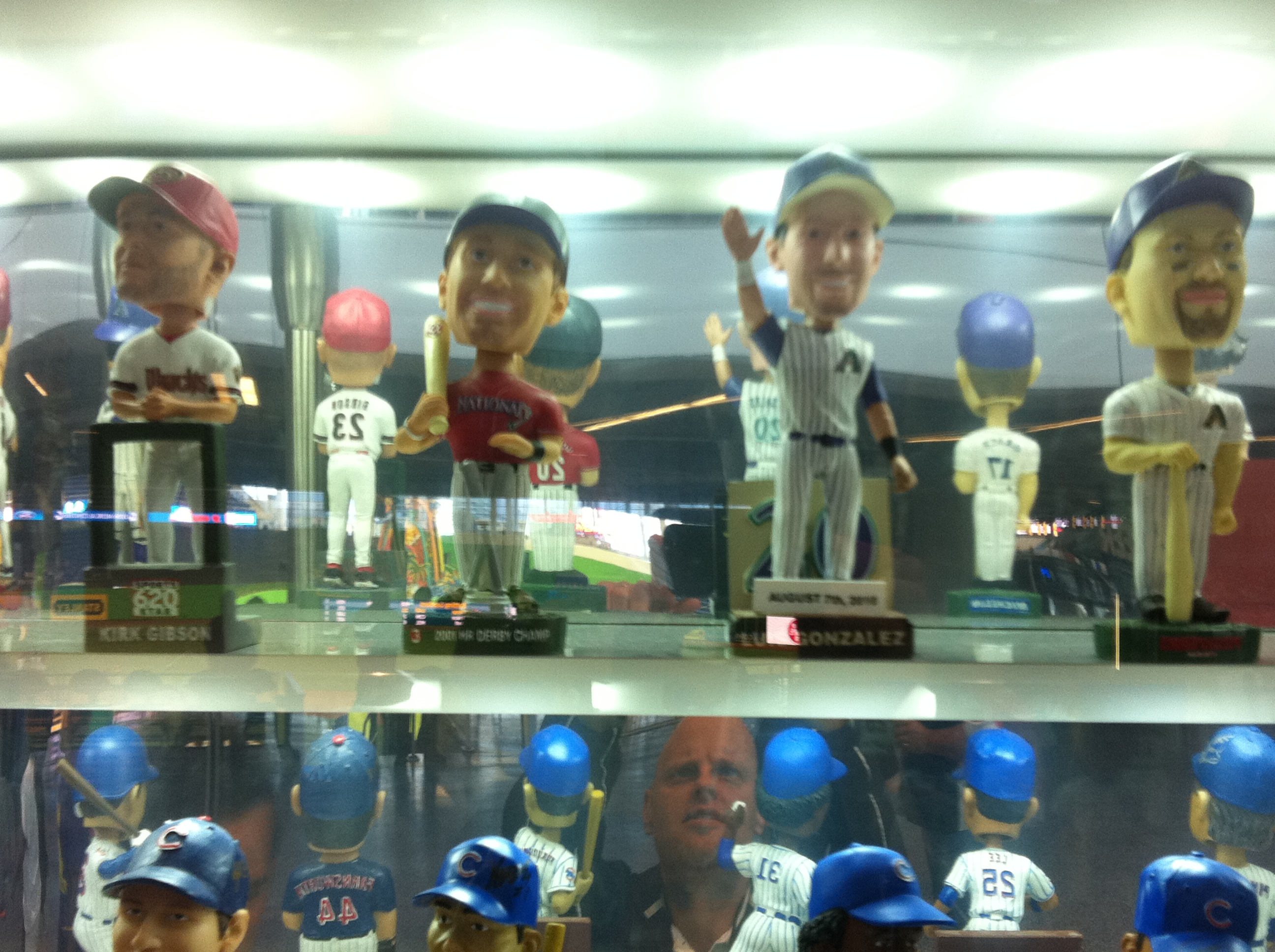 Each team has a section of bobbleheads. Here is the D-backs.
