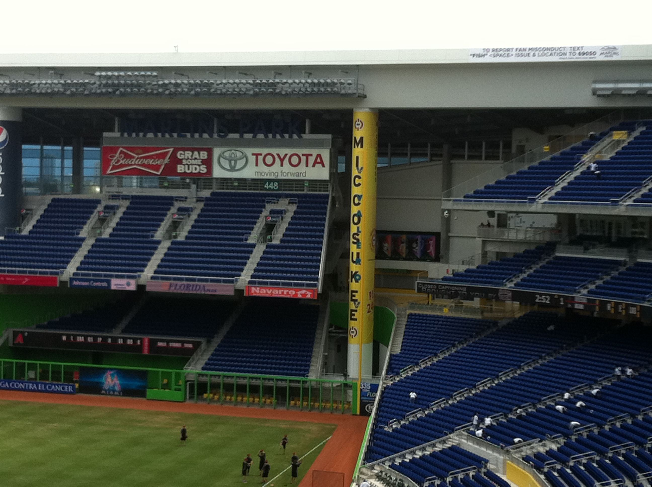 Widest foul pole ever.