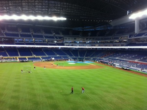 View from the left field concourse.