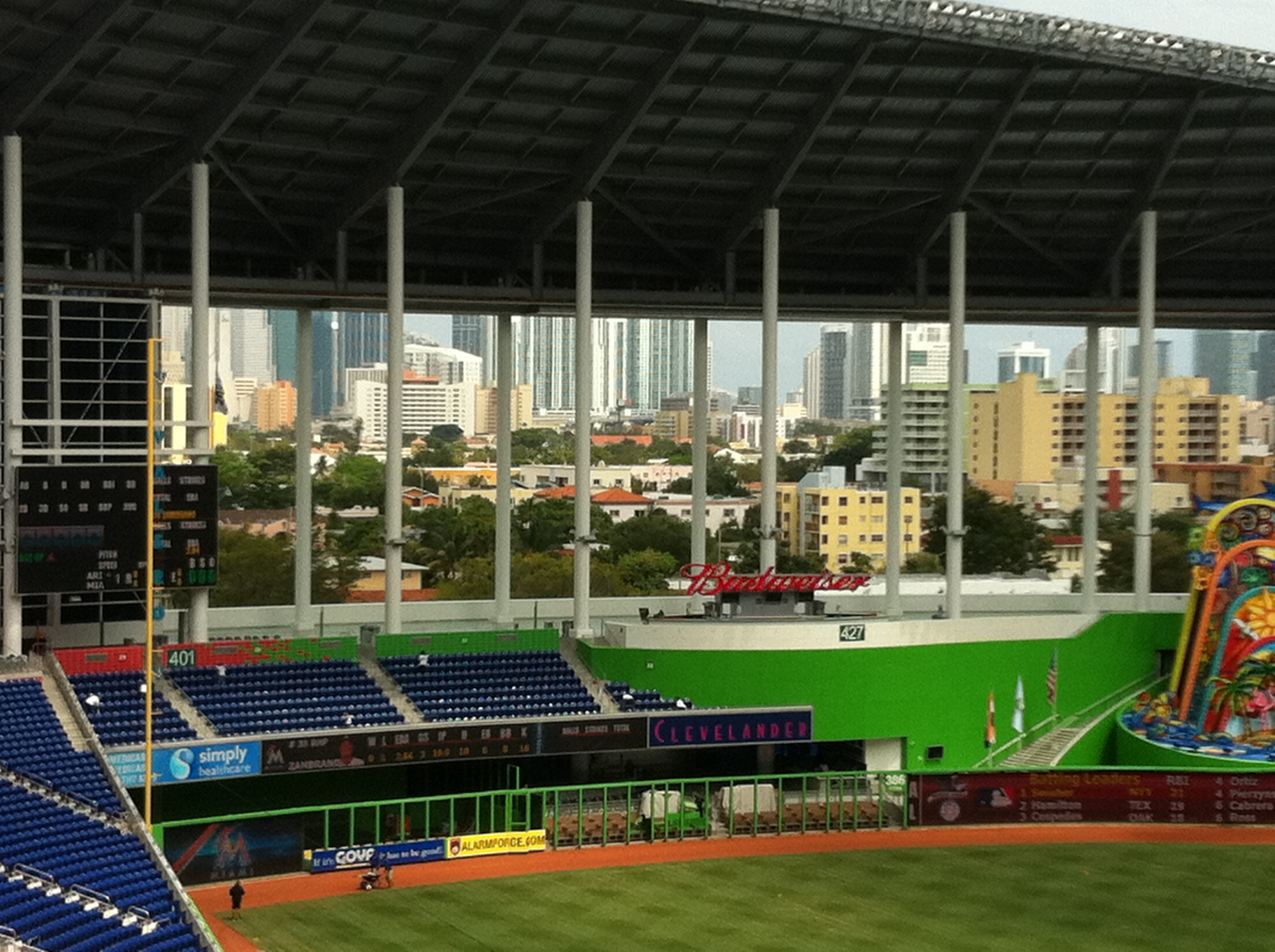 View out to left field.